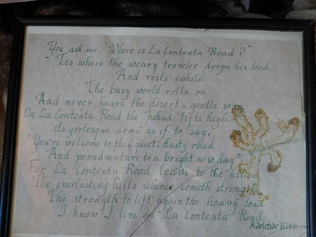 Adelaide Kirk's Poem